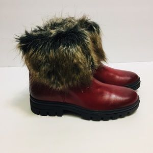 Eric Michael distressed Red Leather Boots. 37